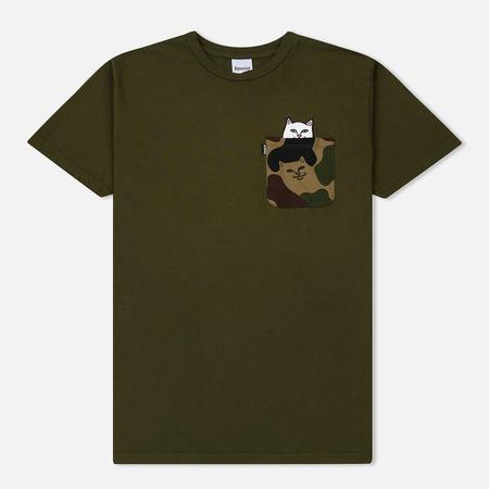 Мужская футболка RIPNDIP Lord Nermal Camo Pocket Army Camo