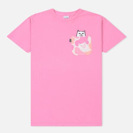 Мужская футболка RIPNDIP Lord Nermal Camo Pocket Pink Camo