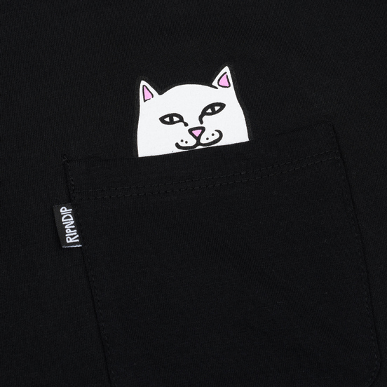 Мужская футболка RIPNDIP Lord Nermal Pocket Black