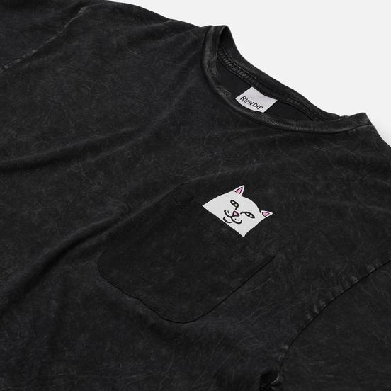Мужская футболка RIPNDIP Lord Nermal Pocket Black Mineral Wash