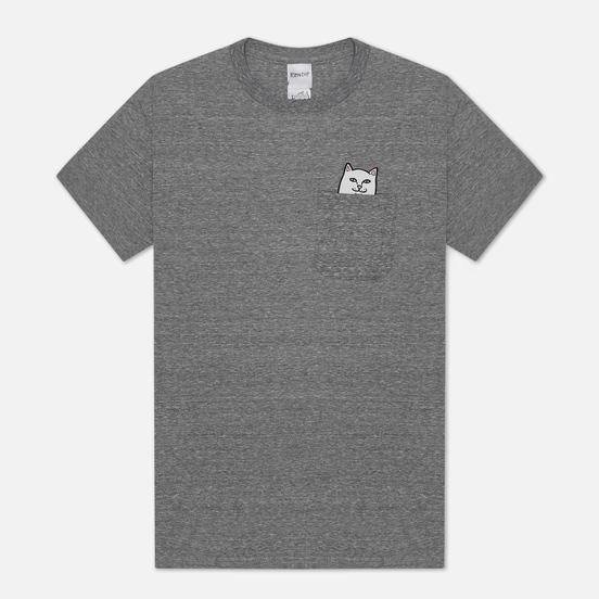 Мужская футболка RIPNDIP Lord Nermal Pocket Heather Grey