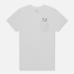 Мужская футболка RIPNDIP Lord Nermal Pocket White