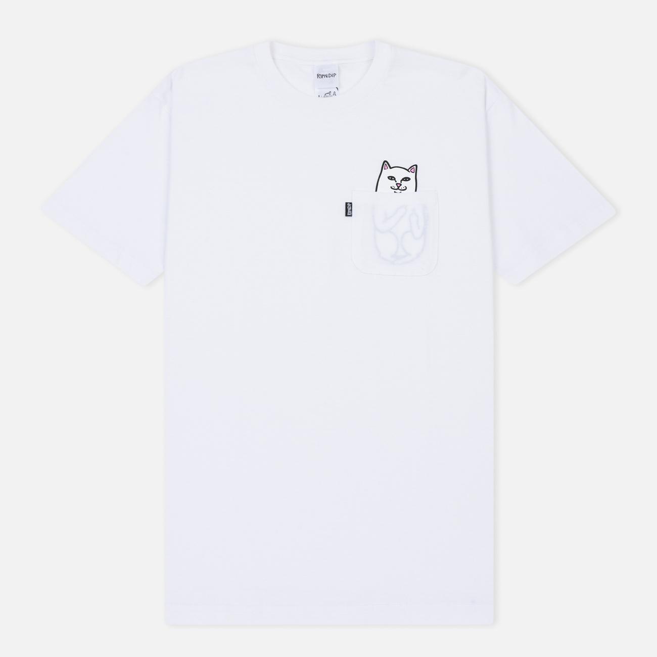 Мужская футболка RIPNDIP Lord Nermal Pocket White