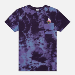 Мужская футболка RIPNDIP Psychedelic Nermal Pocket Blue Acid Wash