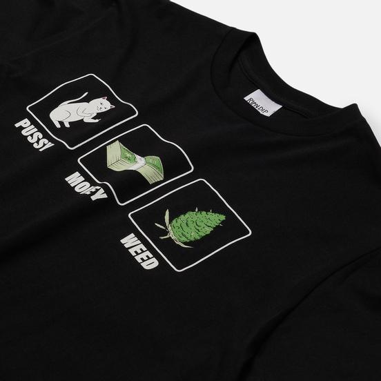 Мужская футболка RIPNDIP Pu$$y, Money, Weed Black