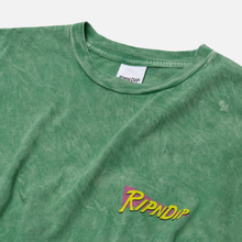 Мужская футболка RIPNDIP Purple Haze Green Vintage Wash фото- 1