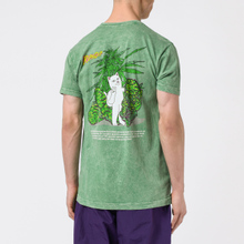 Мужская футболка RIPNDIP Purple Haze Green Vintage Wash фото- 3
