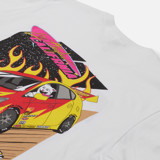 Мужская футболка RIPNDIP RIPNDIP Racing White