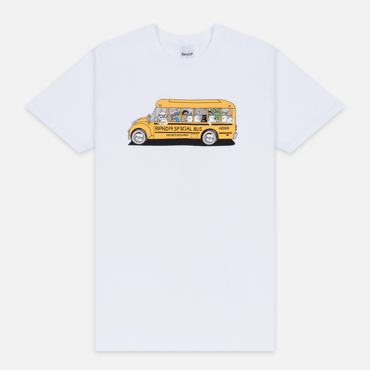 Мужская футболка RIPNDIP School Bus White