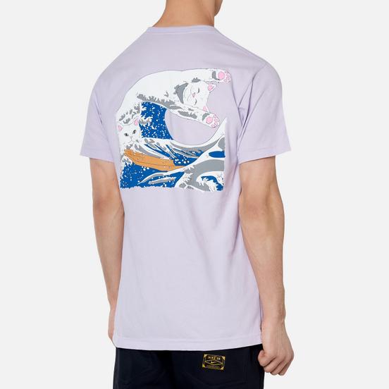 Мужская футболка RIPNDIP The Great Wave Of Nerm Lavender