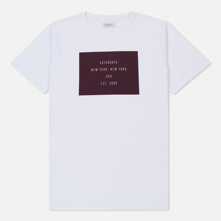 Мужская футболка Saturdays Surf NYC Established Box S/S White