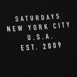 Мужская футболка Saturdays Surf NYC Established USA Black фото- 2