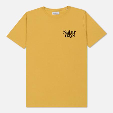 Мужская футболка Saturdays Surf NYC Miller Black Chest S/S Dusty Amber