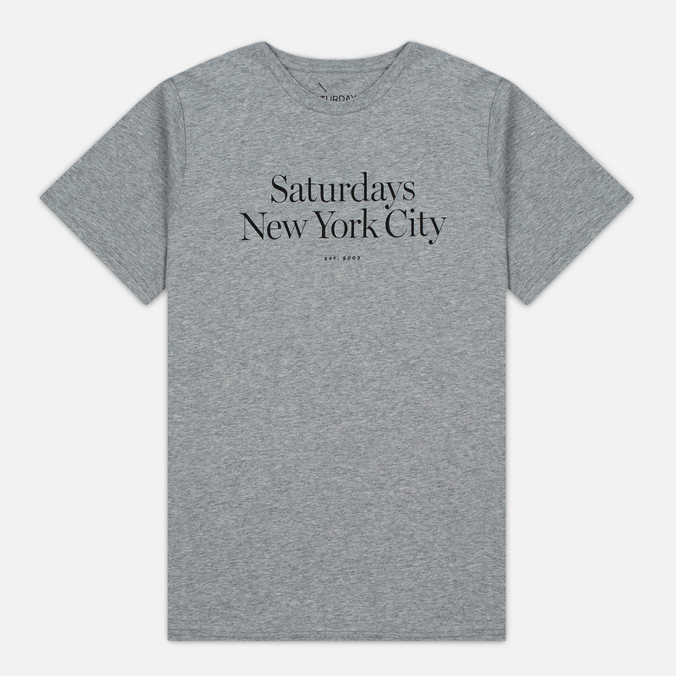 Мужская футболка Saturdays Surf NYC Miller Standard Ash Heather