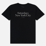 Мужская футболка Saturdays Surf NYC Miller Standard Black фото- 0