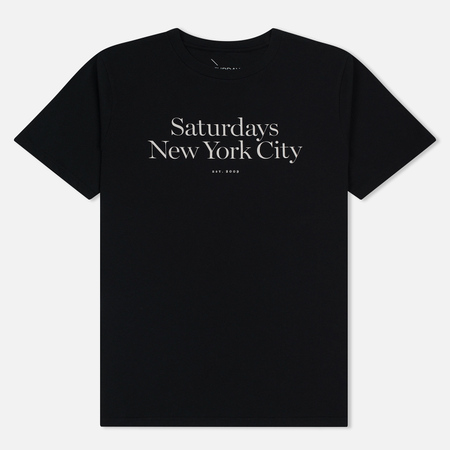 Мужская футболка Saturdays Surf NYC Miller Standard Black