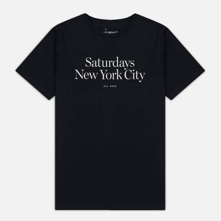 Saturdays Surf NYC Miller Standard Men's T-shirt Black