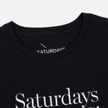 Мужская футболка Saturdays Surf NYC Miller Standard Black фото- 1