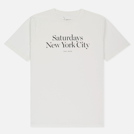Мужская футболка Saturdays Surf NYC Miller Standard Ivory
