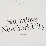 Мужская футболка Saturdays Surf NYC Miller Standard Ivory фото- 2