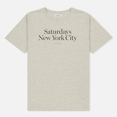 Мужская футболка Saturdays Surf NYC Miller Standard Natural Heather