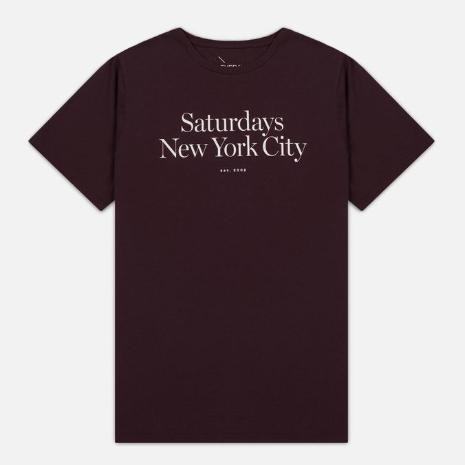 Мужская футболка Saturdays Surf NYC Miller Standard Oxblood