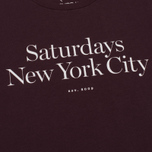 Мужская футболка Saturdays Surf NYC Miller Standard Oxblood фото- 3
