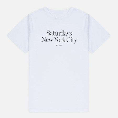Saturdays Surf NYC Miller Standard Men's T-shirt White
