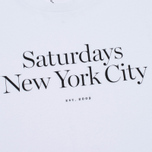 Мужская футболка Saturdays Surf NYC Miller Standard White фото- 3