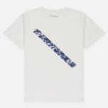 Мужская футболка Saturdays Surf NYC Pattern Slash Ivory фото- 0