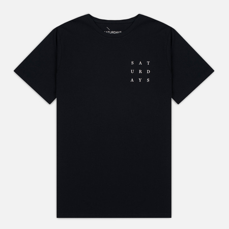 Saturdays Surf NYC Saturdays Grid Men's T-shirt Black