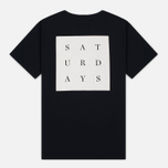 Мужская футболка Saturdays Surf NYC Saturdays Grid Black фото- 4