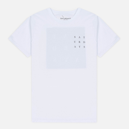 Saturdays Surf NYC Saturdays Grid Men's T-shirt White