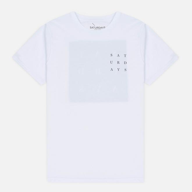 Мужская футболка Saturdays Surf NYC Saturdays Grid White