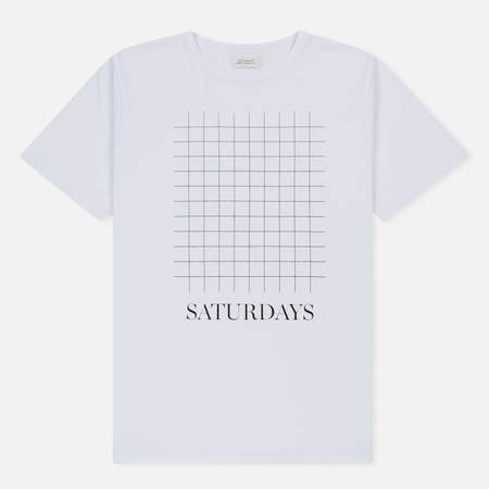 Мужская футболка Saturdays Surf NYC Saturdays Print Grid White