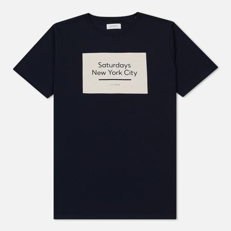 Мужская футболка Saturdays Surf NYC Underlined Standard Box S/S Midnight