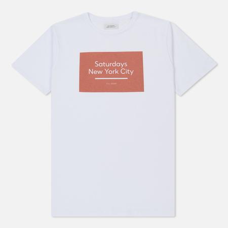 Мужская футболка Saturdays Surf NYC Underlined Standard Box S/S White