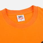 Мужская футболка Sex skateboards Sex Mini Logo Orange фото- 1