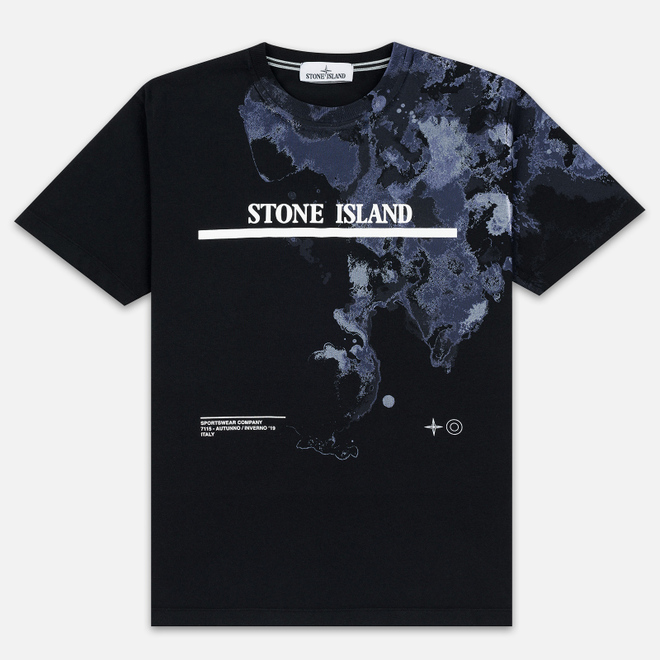 Мужская футболка Stone Island 7115 Graphic Eight Black