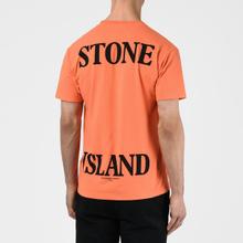 Мужская футболка Stone Island 7215 Graphic Seven Bright Orange фото- 3