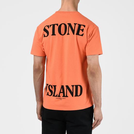 Мужская футболка Stone Island 7215 Graphic Seven Bright Orange
