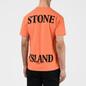 Мужская футболка Stone Island 7215 Graphic Seven Bright Orange фото - 3