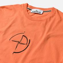 Мужская футболка Stone Island 7215 Graphic Seven Bright Orange фото- 1