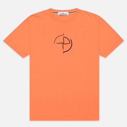 Мужская футболка Stone Island 7215 Graphic Seven Bright Orange