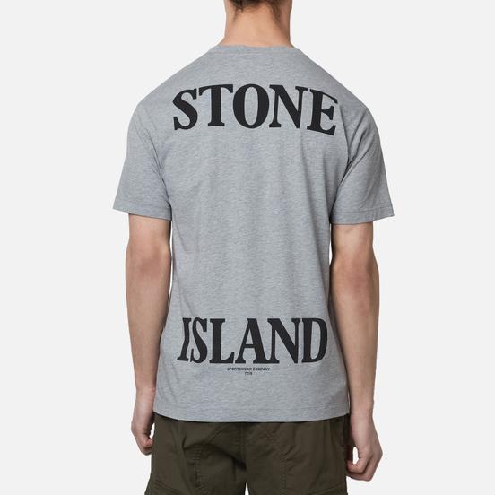 Мужская футболка Stone Island 7215 Graphic Seven Dust Grey Melange