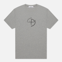 Мужская футболка Stone Island 7215 Graphic Seven Dust Grey Melange