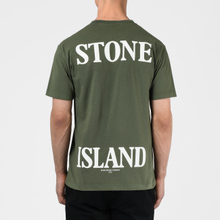 Мужская футболка Stone Island 7215 Graphic Seven Olive Green фото- 3