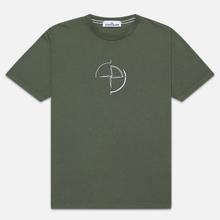 Мужская футболка Stone Island 7215 Graphic Seven Olive Green фото- 0