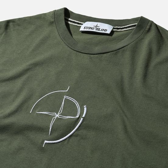 Мужская футболка Stone Island 7215 Graphic Seven Olive Green