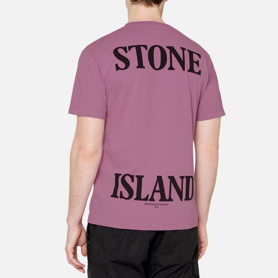 Мужская футболка Stone Island 7215 Graphic Seven Quartz Pink